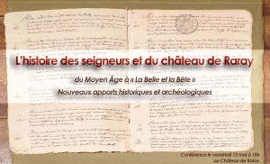 conférence sur le château de Raray