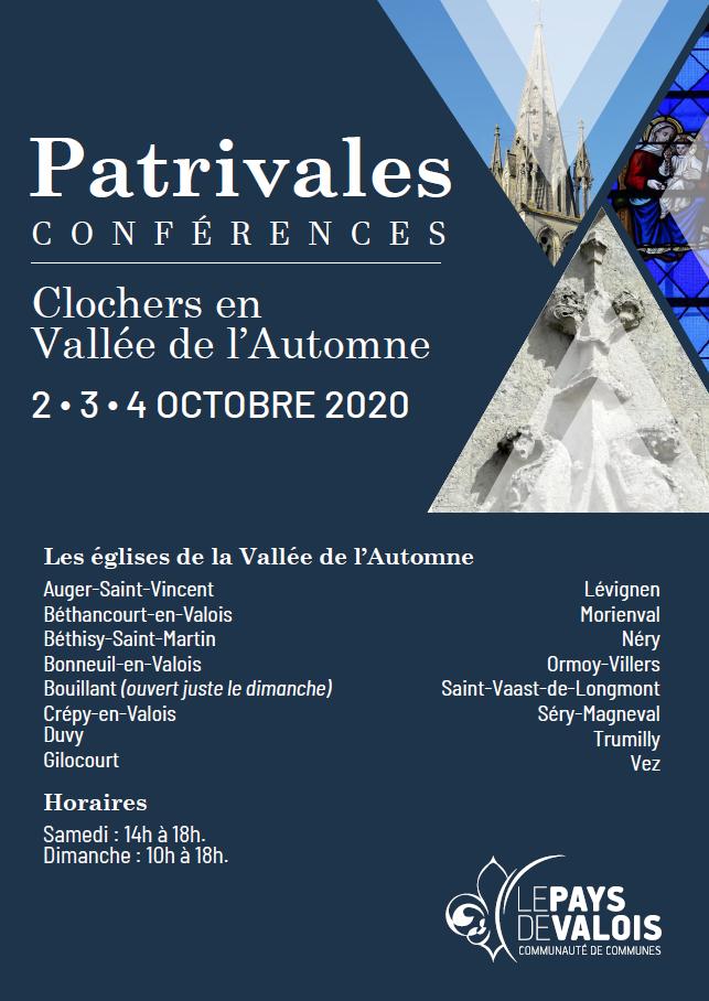 clochers en vallée de l'automne, architecture, église, visite, pays de Valois